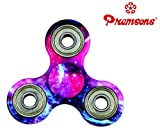 #8: Premsons Premium Quality Fidget Tri Spinner Printed 608 Four Bearing Amazing Spin Time ,Ultra Speed Hand Spin Toy - Elysian Galaxy