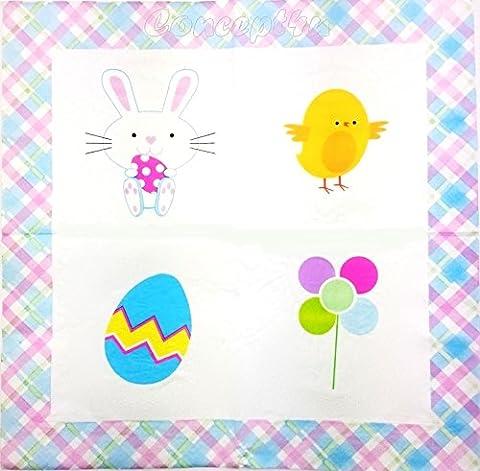 18 Spring Easter Paper Napkins Tissues Serviettes Summer Party Dinner