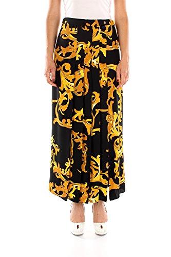 Gonne Versace Collection Donna Poliestere Nero, Giallo e Ocra G33997G602303G7100 Nero 42