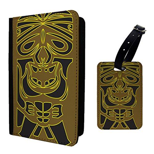 Tiki Totem Maske Print Design Muster Gepäckanhänger & Passport (Made Masken Custom)