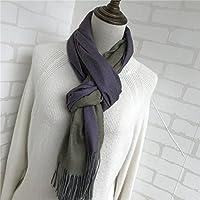 XBR le cachemire foulard couleur pure imitation du cachemire double côté foulard, européens et américains chaleureux châle amants
