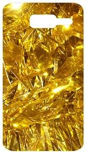Golden Shinning Ornaments White Back Cover Case for Motorola D1