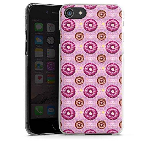 Apple iPhone X Silikon Hülle Case Schutzhülle Donut Party Pink Braun Hard Case transparent
