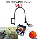 Deeper Smart Sonar Pro + Plus Set d'accessoires + flexible Echolot Support & Night Fishing Cover