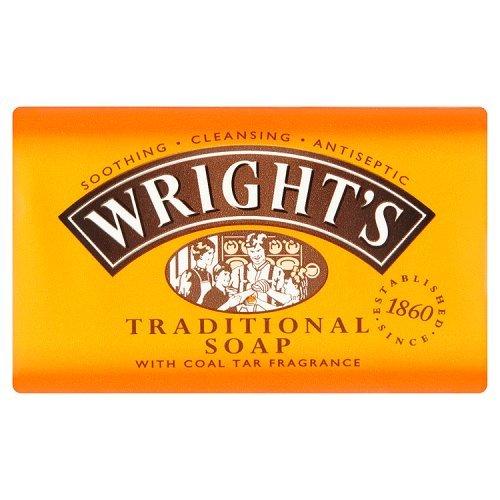 wright' S catrame di carbone sapone tradizionale con fragranza, 125g