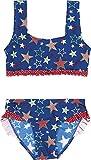Playshoes Mädchen Zweiteiler Bikini Sterne, UV-Schutz nach Standard 801 und Oeko-Tex Standard 100, Gr. 110 (Herstellergröße: 110/116), Blau (original 900)