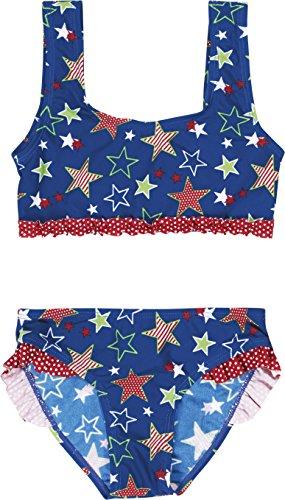 Playshoes Mädchen Zweiteiler Bikini Sterne, UV-Schutz nach Standard 801 und Oeko-Tex Standard 100, Gr. 98 (Herstellergröße: 98/104), Blau (original 900)