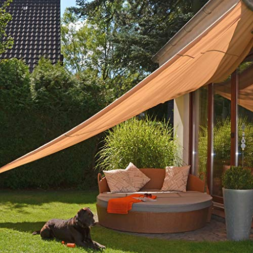 Hi Bebe Voile d'ombrage Beige | Protection imperméable | Triangle 5 x 5 x 5 m | Protection UV | Respirant