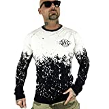 Yakuza Original Herren Splatter Longsleeve T-Shirt