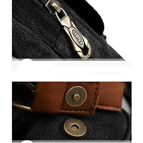 51N1B BnyOL. SS500  - S-ZONE Mens Vintage Canvas PU Leather Military Utility Shoulder Messenger Bags