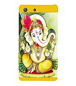 Ganpati 3D Hard Polycarbonate Designer Back Case Cover for Sony Xperia M5 Dual :: Sony Xperia M5 E5633 E5643 E5663