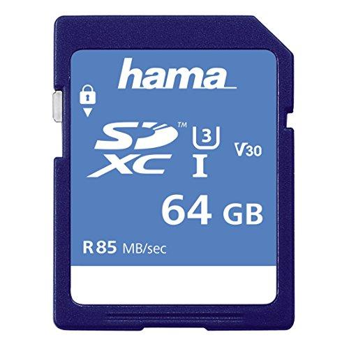 Hama Class 10 SDXC 64GB Speicherkarte (UHS-I, 85Mbps)
