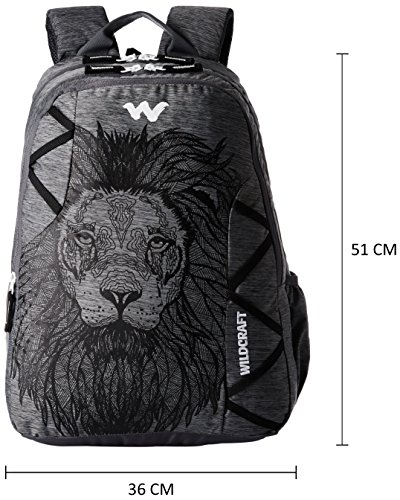 Best wildcraft backpack in India 2020 Wildcraft 35 Ltrs Black and Mel Backpack (WC 5 Dare) Image 2