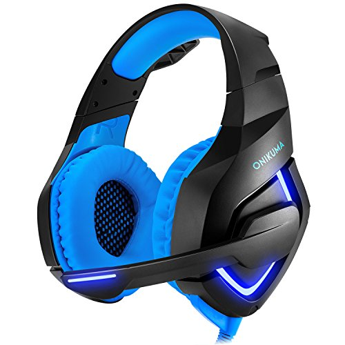 PS4 Gaming Headset Xbox One Stereo Noise Isolation Bass PC Gaming Headphones with Microphone for PS4, Xbox One, laptops,Tablets,Mobile Phone (with LED Lights Omnidirectional Mic)