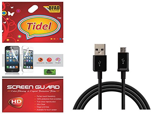 Tidel Ulta Clear Screen Guard For Micromax Canvas Mad A94 With USB DATA Cable  available at amazon for Rs.229
