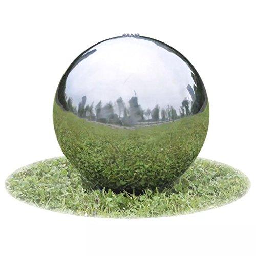 WEILANDEAL Garten-Springbrunnen Sphere mit LEDs Edelstahl 30 cmWasserfalle with Material: SS 304 Edelstahl Wasserfalle