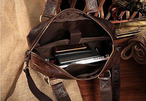 DJB/Vintage Herren Leder Die Man Tasche Fashion Handtasche der Kuh Leder Tasche schokoladenbraun