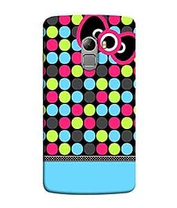 Fuson Designer Back Case Cover for Lenovo Vibe K4 Note :: Lenovo K4 Note A7010a48 :: Lenovo Vibe K4 Note A7010 (Polka Dots Dotted Strips Stripes )