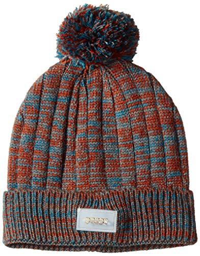 MUK LUKS Damen Unisex LED Pom Beanie Hut für kaltes Wetter, blau, Einheitsgröße