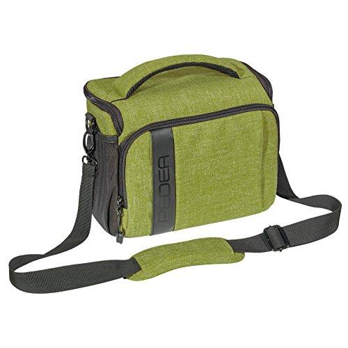 """'PEDEA SLR """"Fashion borsa per fotocamera Nikon D90, D500, D610, D3300, D3400, D5300, D7100, D7200/Pentax K 50, K 500, K-S2/Canon EOS 1300d (taglia XL) verde con pellicola protettiva"""