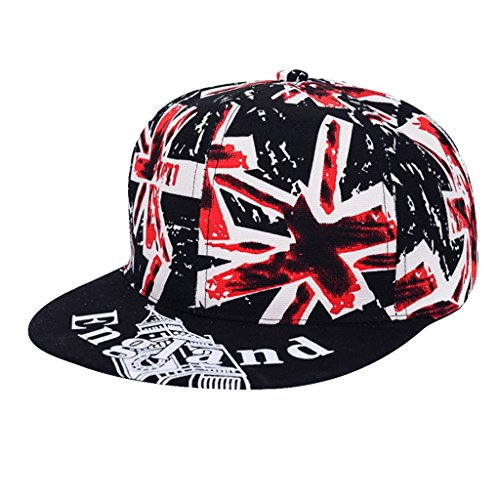 Sombrero De Hiphop Casquillo Jack Unión Bandera Británica Snapback Para Amantes Hombres Mujeres...