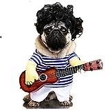 R faith Puppy Spielt Gitarre Kunst Fell Gitarre Kleid XL