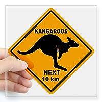 CafePress Kangaroo Sign Next Km A2 Co Square Bumper Sticker