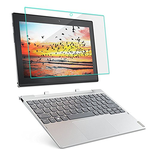 Infiland Lenovo MIIX 320 Displayschutz Glass Folie Schutzfolie Glas Panzerfolie Displayschutzfolie für Lenovo MIIX 320 25,65cm (10,1 Zoll HD IPS Touch) 2in1 Tablet (Tempered Glass)