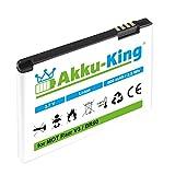 Akku-King Akku für Motorola Razr V3, Razr V3i, PEBL U6–ersetzt BA700, Prolife 500–BR50–Li-Ion–800mAh