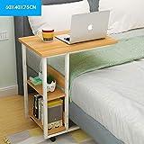 WETERS Sofa Beistelltisch Arbeitszimmer Laptop Schreibtisch multifunktionales einfaches Bett mit abnehmbarem tragbarem Lazy-Tisch,Walnut,A