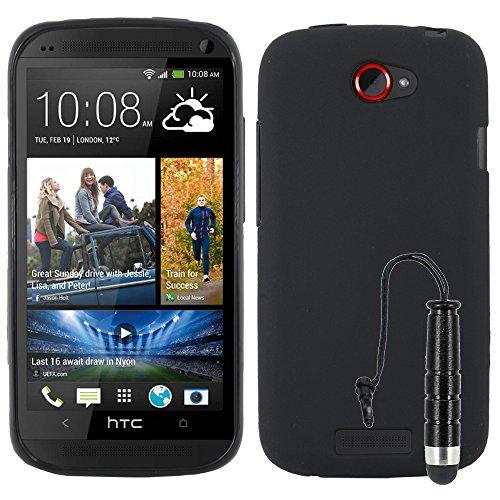 ebestStar - Cover HTC One S Custodia Silicone Gel TPU Protezione Morbida e Sottile + Mini Penna, Nero [Apparecchio: 130.9 x 65 x 7.8mm, 4.3'']