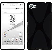 PhoneNatic Case für Sony Xperia Z5 Compact Hülle Silikon schwarz X-Style + 2 Schutzfolien