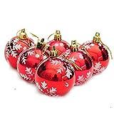 Qiusa 6 Stücke Weihnachtskugeln Ornament, Christbaumkugeln Dekorationen Weihnachtsbaum Dekorationen Hängen Dekor Ornament Weihnachten Süßigkeiten Lagerung