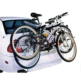 CAR CYCLE CARRIER 2 BICYCLE BIKE RACK UNIVERSAL FITTING SALOON HATCHBACK ESTATE 11