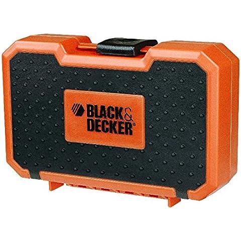 Black + Decker Set punte da trapano con legno, pietra e metallo punte in valigetta, (Punta Di Pietra)