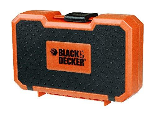 Black + Decker Bohrer-Set mit Holz, Stein und Metallbohrern im Koffer, 16- teilig, 1 Stück, A7185