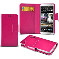 HTC One Max Scegliere Protezione da Mega sottile in ecopelle ventosa Custodia portafoglio Pelle Copertura Caso Cover con carta di credito/debito Slot Colori da Aventus wnt