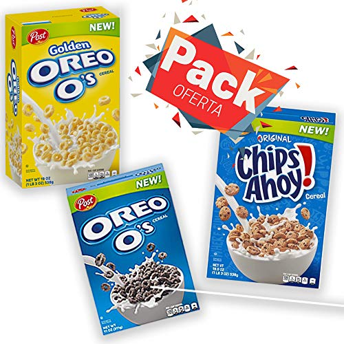 Oreo + Oreo Golden + Chips Ahoy Pack Cereales Post
