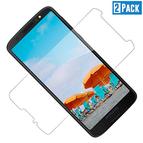 TOIYIOC Screen Protector Compatible with Moto G6 [2 Pack] Tempered Glass  Moto G6 Screen Protector, Case Friendly, Fit Well, Anti-Scratch, 9H  Hardness