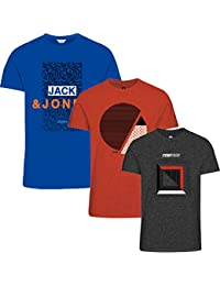 JACK & JONES Herren T-Shirt * 3er Pack * Rundhals O-Neck Tee Shirt T S,M,L,XL,XXL Neu