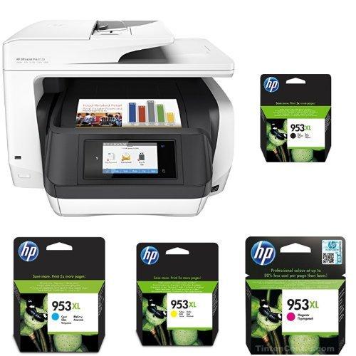 HP OfficeJet Pro 8720 Multifunktionsdrucker weiß + HP 953XL Multipack