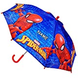 Unbekannt Regenschirm -  Ultimate Spider-Man - Marvel  - inkl. Name - Kinderschirm Ø 70 cm / groß Stockschirm mit Griff - Kinder - Regenschirme - für Jungen Mädchen -..