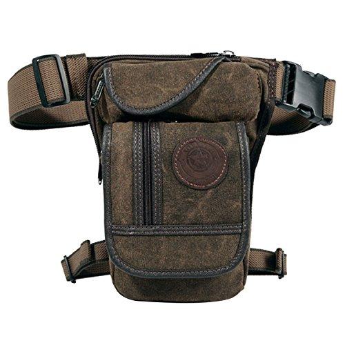 Huntforgold Herren Canvas Beintasche Hüfttasche Pack Leg Drop Utility Bag zum Sport Reisen Camping Radfahren Motorrad