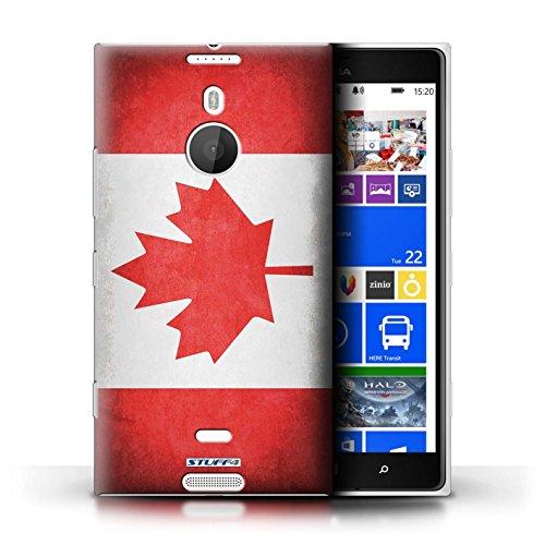 Coque en plastique pour Nokia Lumia 1520 Collection Drapeau - Finlande/finlandais Canada/canadien