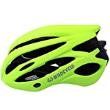 Fahrrad Helm Honeycomb Typ 21Löcher Mountain Bike Racing breezier Helm Unisex Sicherheit Schutz Carbon mit Visier Rot Farbe GRATIS Größe Verschnaufpause Haltbarkeit angenehm Cool & #-; Unisex Leicht Fahrradhelm mit Warnung Rücklicht Abnehmbare Sonnenblende - grün