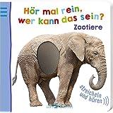 Hör mal rein, wer kann das sein? - Zootiere (Foto-Streichel-Soundbuch)