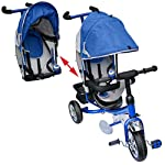 M&G Techno Children Kids Kiddo Tricycle Bicycle Trike 3 Wheel Bike from 2 years - Power steering Foam rubber - with Parent Handle - with Canopy Hood