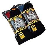 Lot de 12 Paires de chaussettes de travail ultra résistant-Bottes de sécurité-Chaussettes-Excellente qualité-chaleur et confort assurés Taille 39-45 Noir