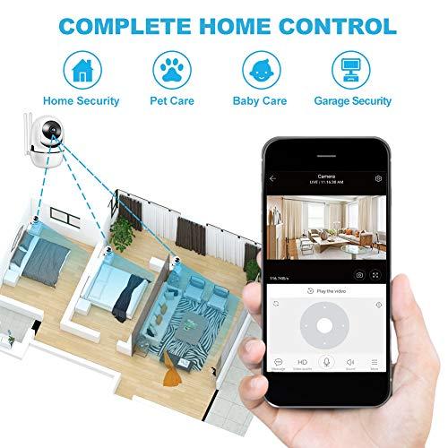 Cámara de Vigilancia WiFi 1080P Cámara IP Interior Inalámbrico Visión Nocturna Seguimiento Automático Audio para 2.4GHz WiFi Compatible con iOS/Android