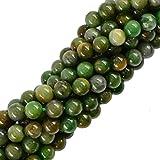 8 Millimetri Sciolto Gioielli Rotonda Verde Verdite Pietra Preziosa Giada Africano Distanziatore Perline 15 Pollici